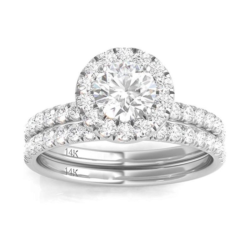 Promise Forever Certified 1-3/8ctw Bridal Set
