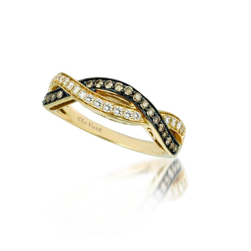 Le Vian .39 Ctw Yellow Gold Diamond Band