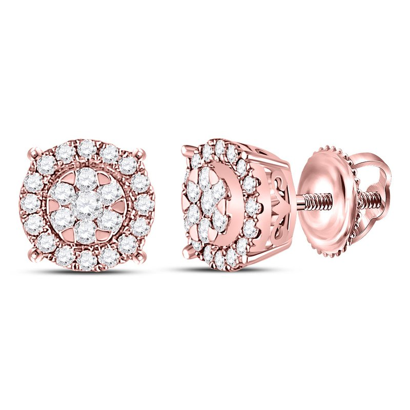 Saslow's & Henebry's Collection 1/4 Ctw Rose Gold Cherie Earrings
