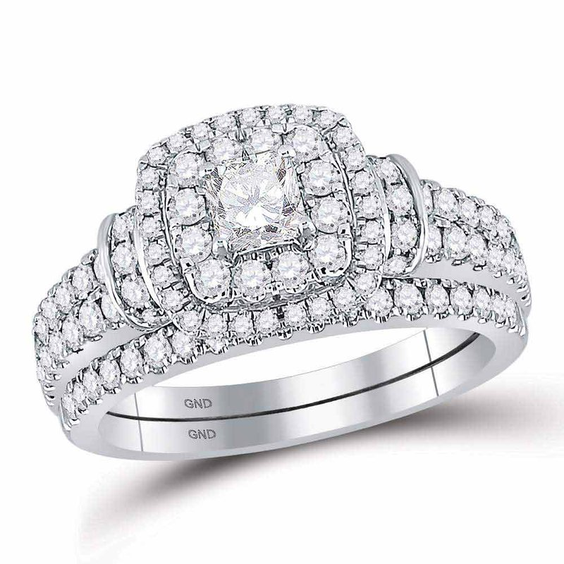 Bellissimo 1 1/3CT-DIA 1/3CT-CPR BELLISSIMO BRIDAL SET