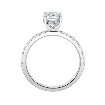 Certified 1.10ctw Round Hidden Halo Ring