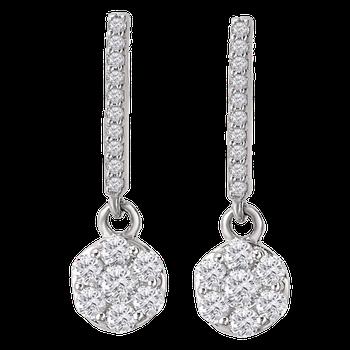 WG 5/8ct Radiance Dangle Earrings