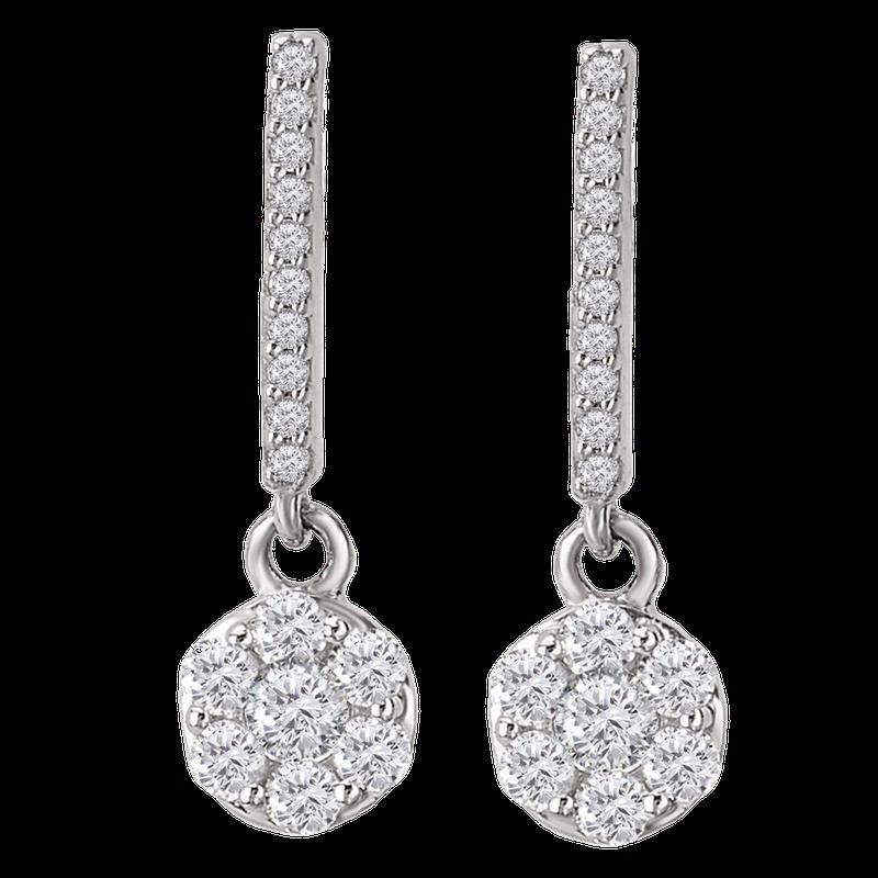 Saslow's & Henebry's Collection WG 5/8ct Radiance Dangle Earrings
