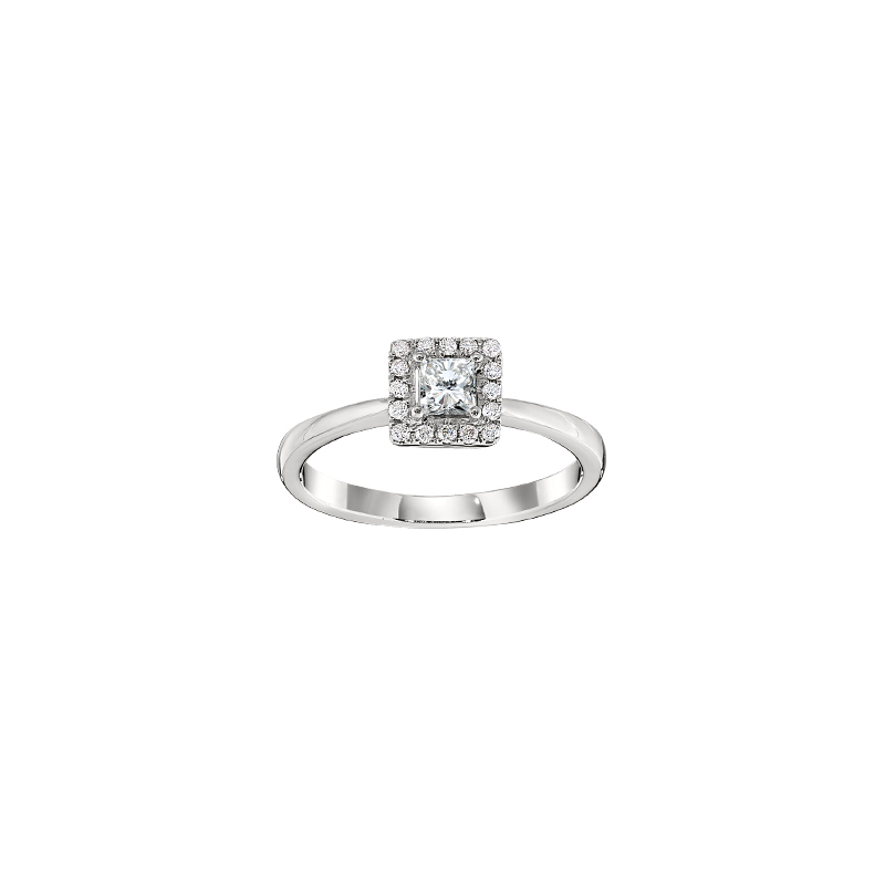 Gold Casters Bridal Collection Gold Casters Diamond Princess Cut Halo Engagement Ring