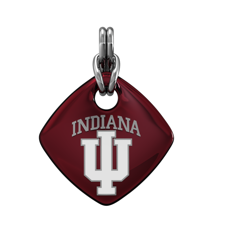 Indiana University jewelry collection SS IU SOFTSQUARE RED ENAM PENDANT