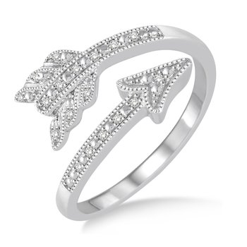 Gold Casters Diamond Cupid's Arrow Ring