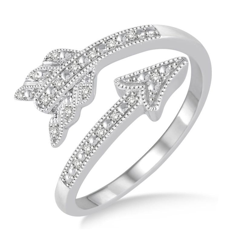 Gold Casters Special Collection Gold Casters Diamond Cupid's Arrow Ring