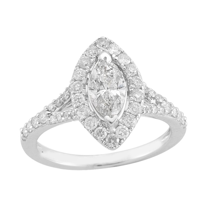Gold Casters Bridal Collection Gold Casters Diamond Marquise Brilliant Woven Engagement Ring