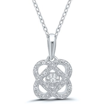 Gold Casters Cupid's Heart Diamond Pendant