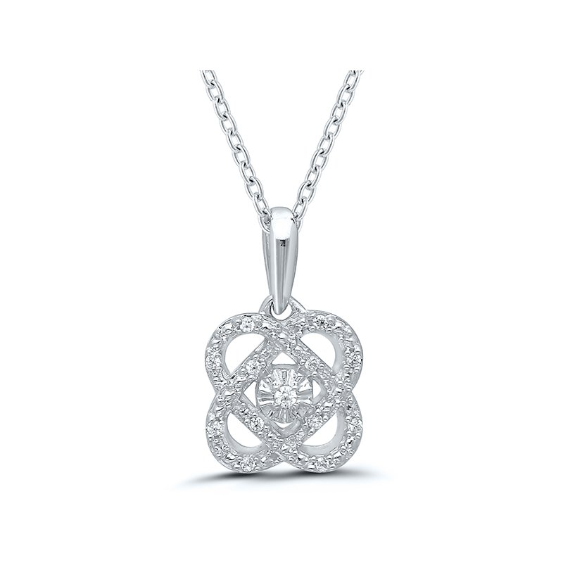 Gold Casters Special Collection Gold Casters Cupid's Heart Diamond Pendant