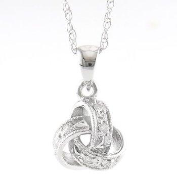 Love Knot Diamond Pendant