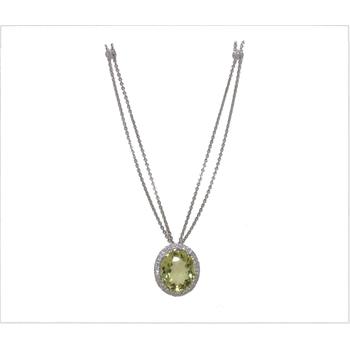BERGIO CITRINE AND DIAMOND NECKLACE