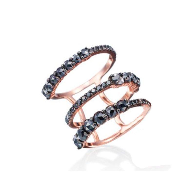 Etho Maria ETHO MARIA Rose Gold Black Diamond Ring