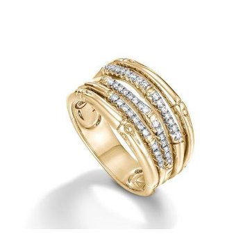 Bamboo Diamond Ring