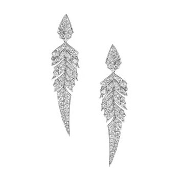 STEPHEN WEBSTER MAGNIPHEASANT DIAMOND FEATHER EARRINGS