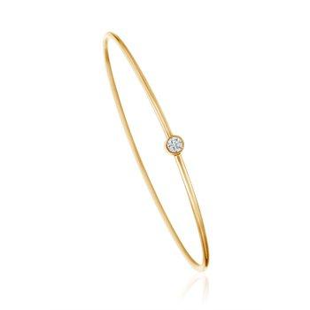 A.LINK DIAMOND BEZEL GOLD BRACELET
