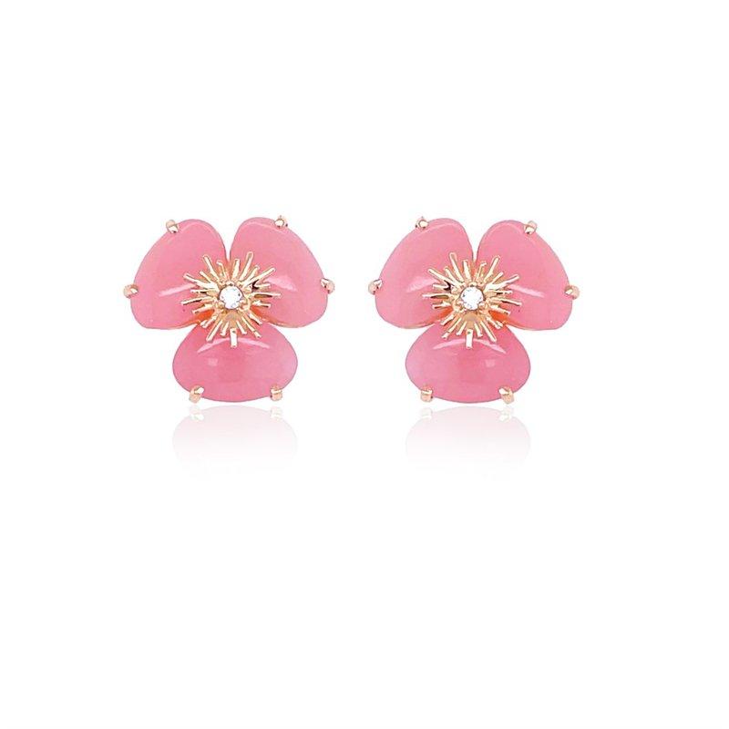 Vianna Vianna B.R.A.S.I.L. Pansy Malva Quartz Earrings
