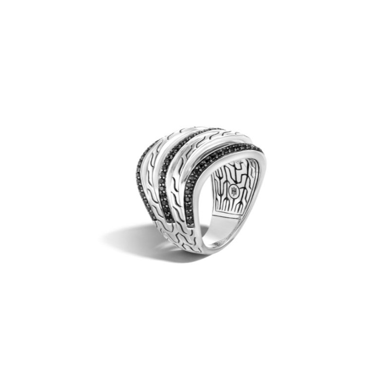 JOHN HARDY Classic Motif Pavé Stacked Ring
