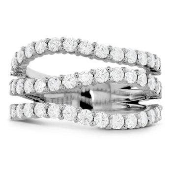 Hearts on Fire Atlantico Triple Wave Diamond Right Hand Ring 18K White Gold
