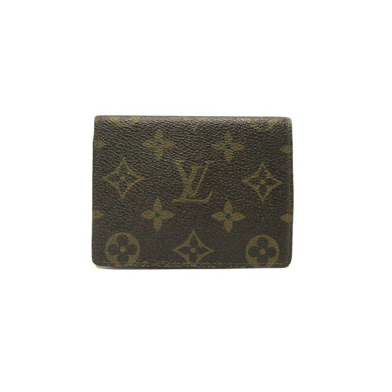 Pre-Owned Luxury Handbags LOUIS VUITTON Monogram Canvas Bi-Fold Small Compact Wallet