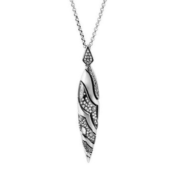 Marquis Pendant Necklace with Diamonds