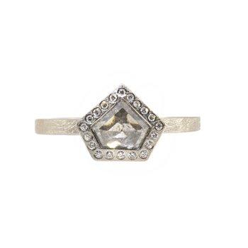 TODD REED PALLADIUM FANCY CUT DIAMOND RING