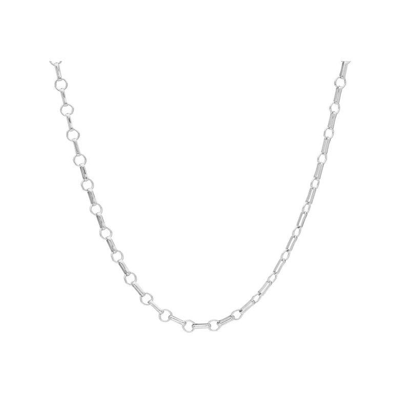 Anna Beck Bar & Ring Chain Collar Necklace - Silver