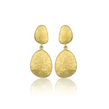 LIKA BEHAR GOLD HAMMERED EARRINGS