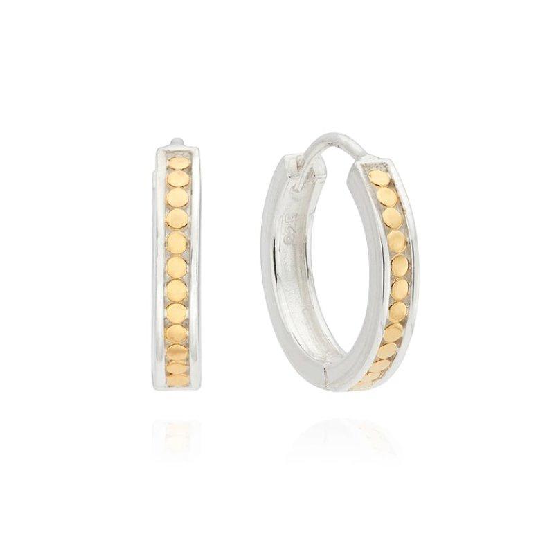 Anna Beck Classic Small Hinge Reversible Hoop Earrings