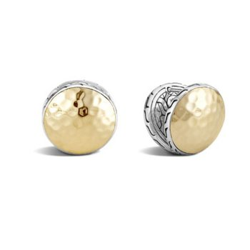 Classic Chain Hammered Reversible Stud Earrings