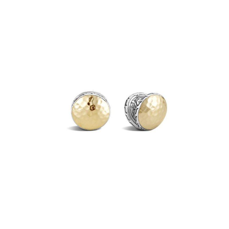 JOHN HARDY Classic Chain Hammered Reversible Stud Earrings