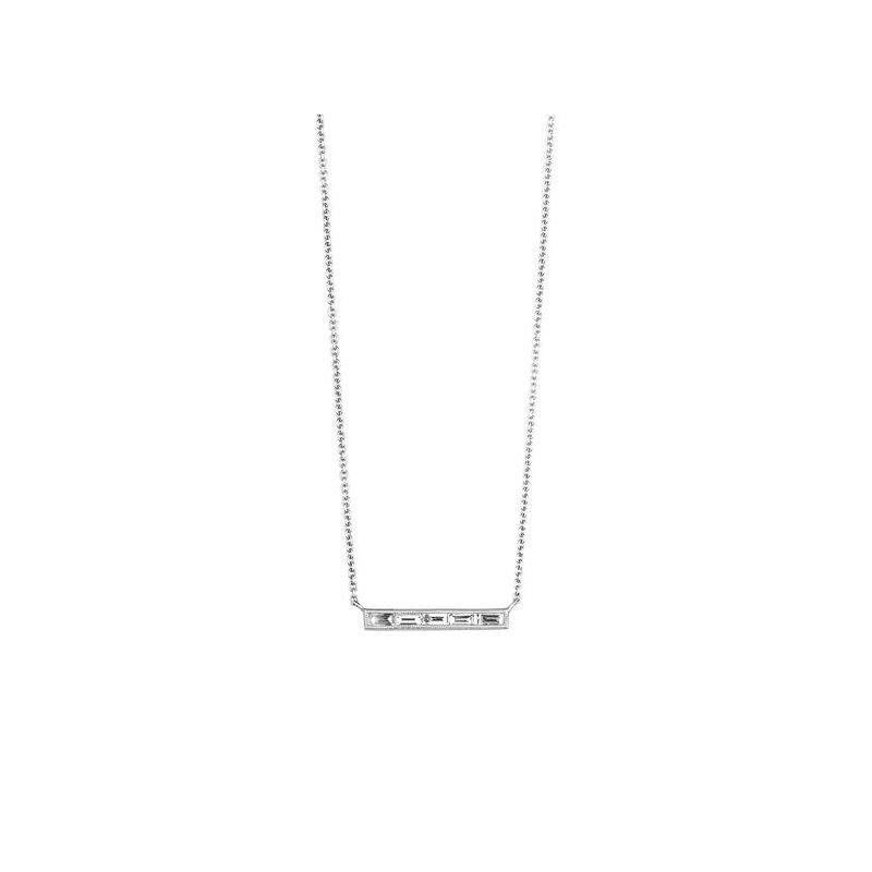 Sethi Couture Sethi Couture Silhouette 5 Stone Baguette Diamond Necklace