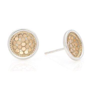 Classic Dish Stud Earrings - Gold