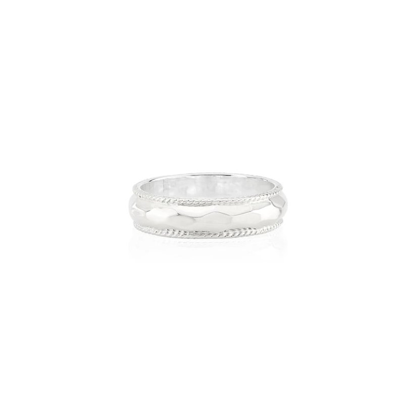 Anna Beck Hammered Stacking Ring - Silver