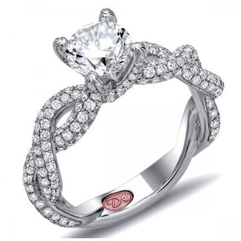 WHITE GOLD TWISTED DIAMOND ENGAGEMENT RING