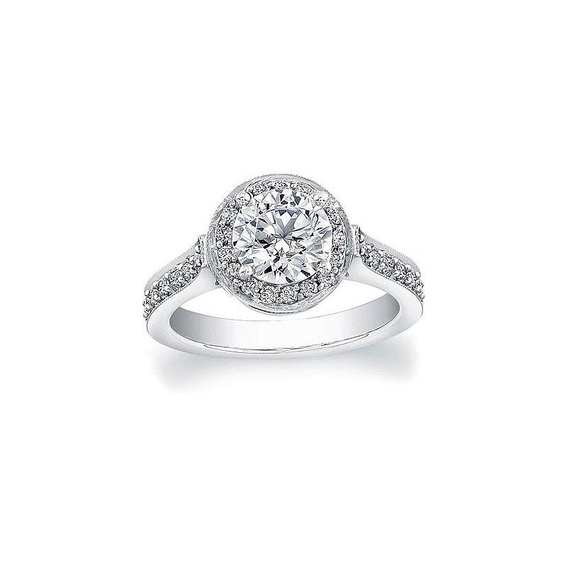 MAZZARESE Bridal DIAMOND HALO ENGAGEMENT RING