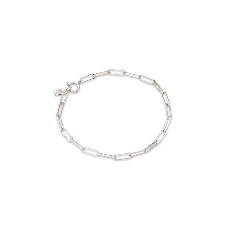 Anna Beck Elongated Box Chain Bracelet, Silver
