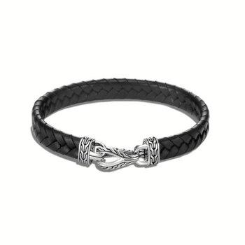Asli Classic Chain Link Station Bracelet, Leather