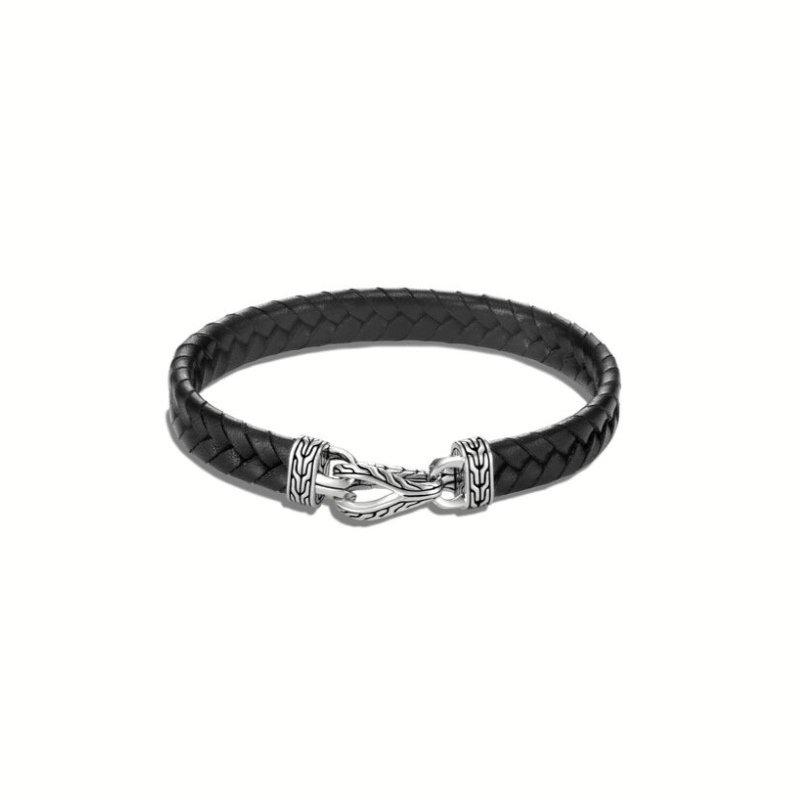 JOHN HARDY Asli Classic Chain Link Station Bracelet, Leather