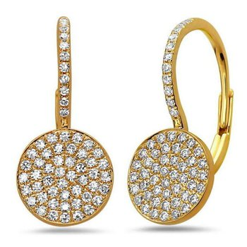 Diamond Disc Dangle Earrings