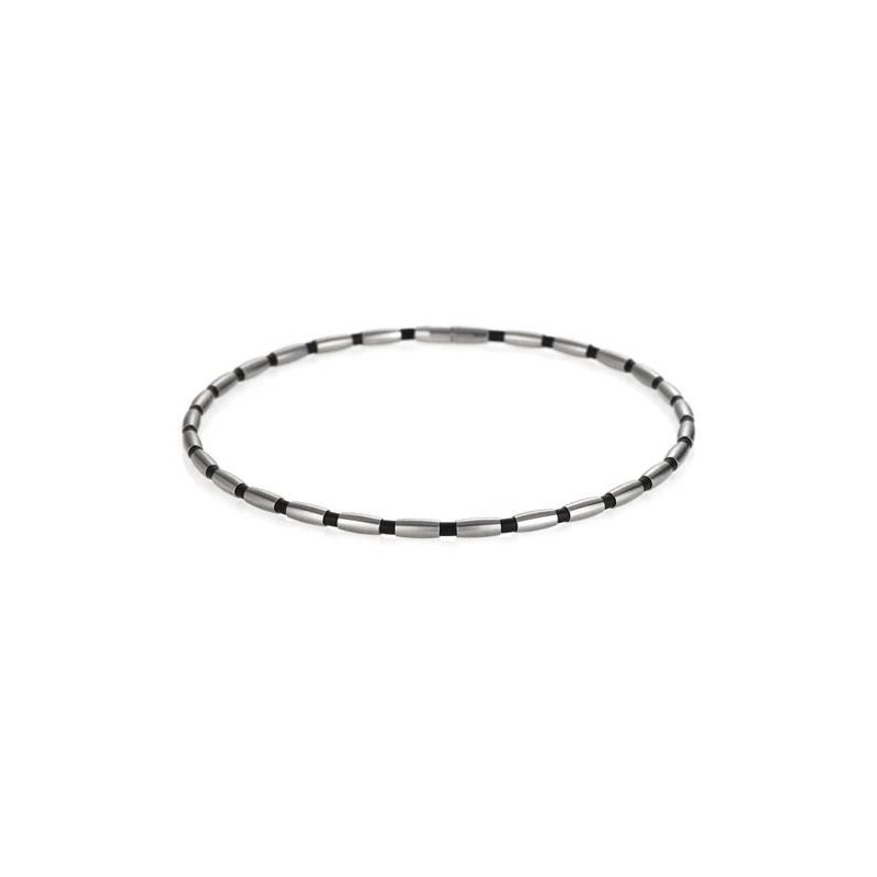 TeNo TeNo Stainless Steel Rubber Necklace