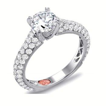 WHITE GOLD PAVE DIAMOND ENGAGEMENT RING