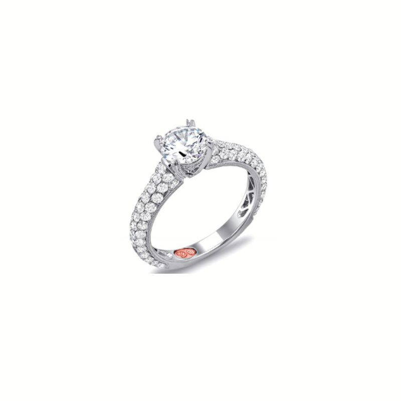 MAZZARESE Couture WHITE GOLD PAVE DIAMOND ENGAGEMENT RING