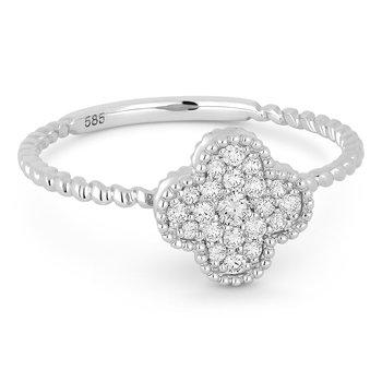 DIAMOND CLOVER FASHION RING