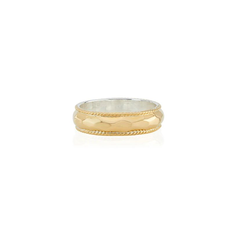 Anna Beck Hammered Stacking Ring - Gold