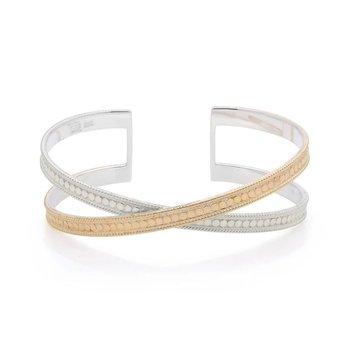 Classic Cross Cuff - Gold & Silver