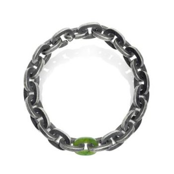 TODD REED MENS SILVER LINK BRACELET WITH JADE