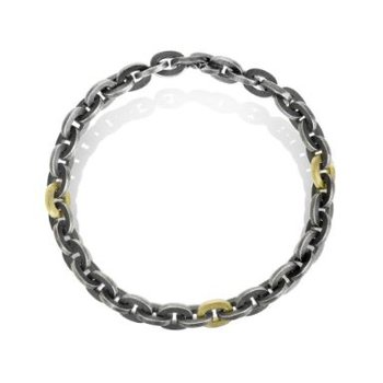 TODD REED MENS TWO-TONE LINK BRACELET