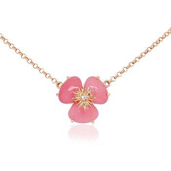 Vianna B.R.A.S.I.L. Pansy Malva Quartz and Diamond Necklace