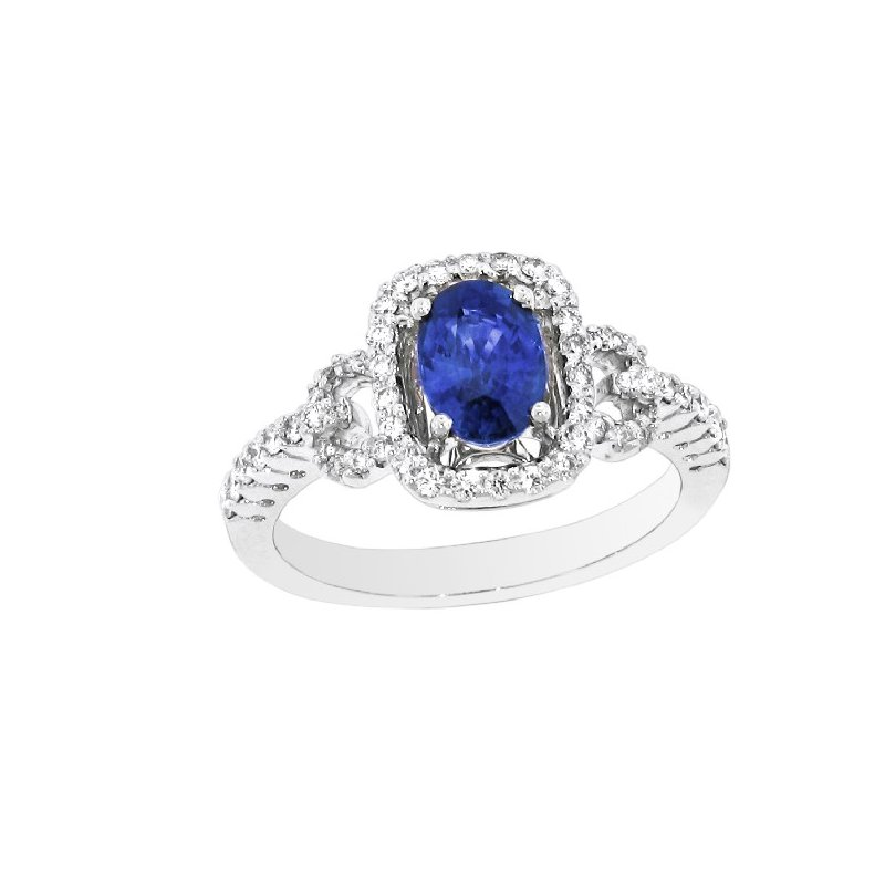 Spark Creations WHITE DIAMOND AND SAPPHIRE RING